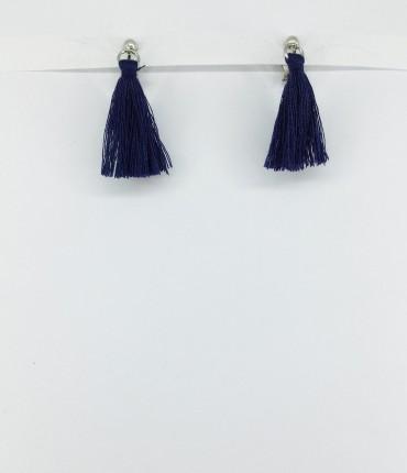 Boucles d'oreilles clips marine M48