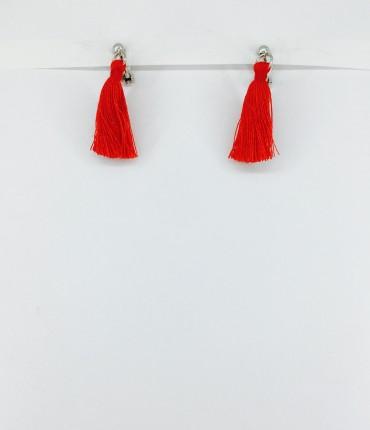 Boucles d'oreilles clips rouge M47