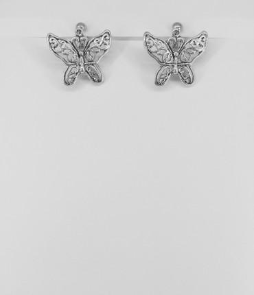 boucles d'oreilles clips papillon