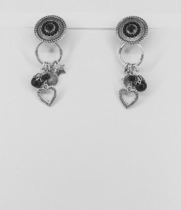Boucles d'oreilles clips breloques M42