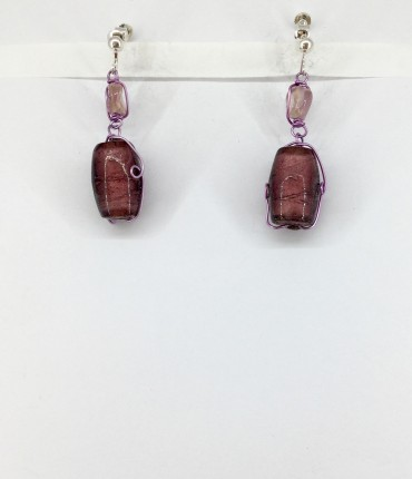 Boucles d'oreilles clips cristal M34