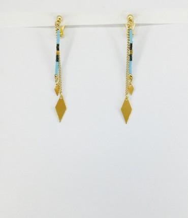 Boucles d'oreilles clips ethniques M59