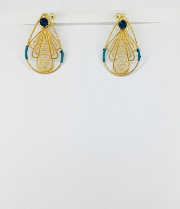 Boucles d'oreilles clips doré M60