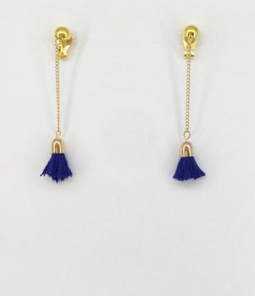 Boucles d'oreilles clips bleu marine
