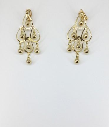Boucles d'oreilles clips doré