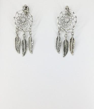 Boucles d'oreilles clips plumes