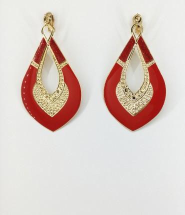 Boucles d'oreilles clips rouges