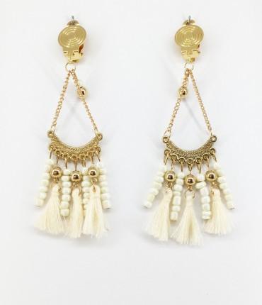 Boucles d'oreilles clips ethniques