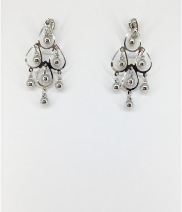 Boucles d'oreilles clips rhodiées