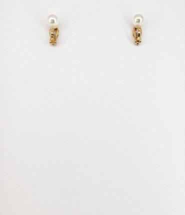 boucles d'oreilles clip perle
