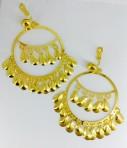 boucles d'oreilles clips piécettes dorées