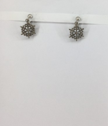 Boucles d'oreilles clips flocon