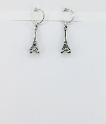 Boucles d'oreilles clips tour Eiffel M40