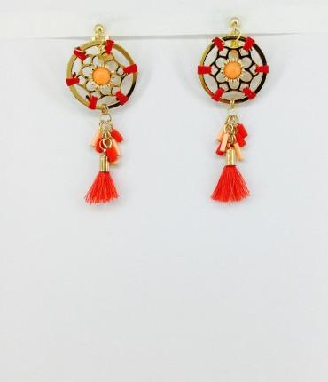 Boucles d'oreilles clips pompon M57