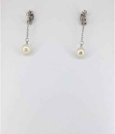 Boucles d'oreilles clips perles