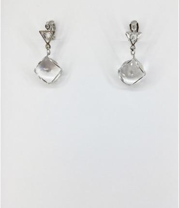 Boucles d'oreilles clips cristal