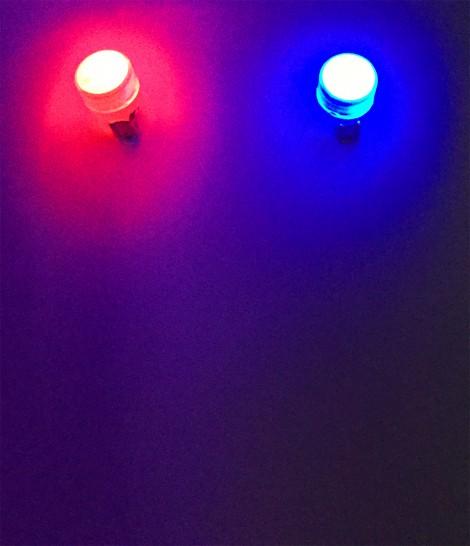 boucles d'oreilles clips lumineuses LED soirée